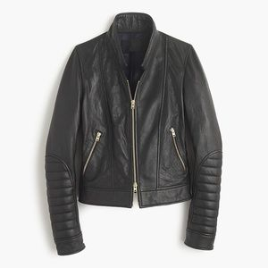 BNWT J.Crew Collection Leather Jacket